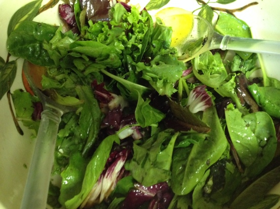 Herb Salad Mix with avocado oil and lemon
