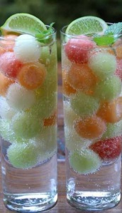 Melon Ball Ice Cubes