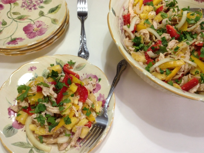 Ginger Chicken and Pineapple Salad