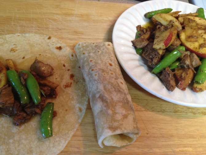 Sweet Pork and Apple Wrap