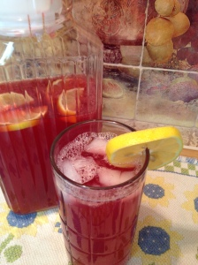 Blackberry Mojito Tea Lemonade -over-head-