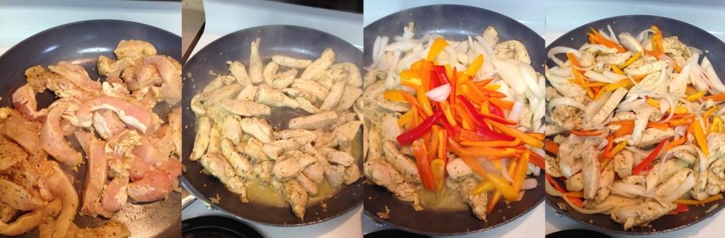 cooking Garlic Lime chicken Fajitas