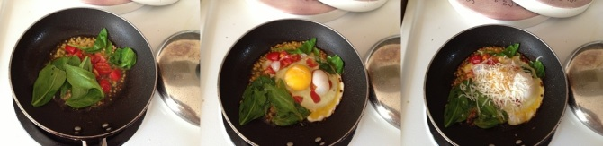 preparing ingredients for High Protein egg-Spinach Combo