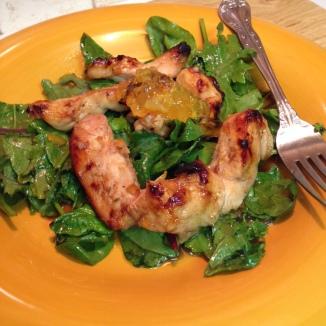 Orange Chicken Salad close-up