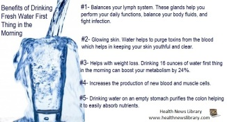 Benefits of water first thing in the morning