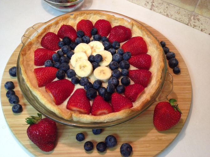 Berries and Vanilla Pudding Pie