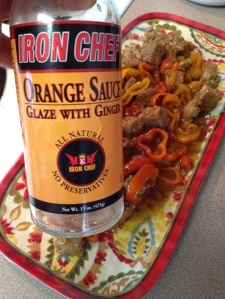 bottled orange glaze sauce