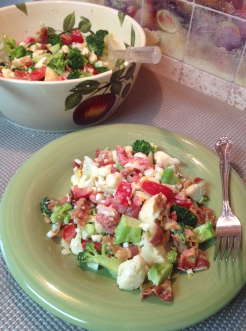 Chopped Broccoli Tomato and Bacon Salad