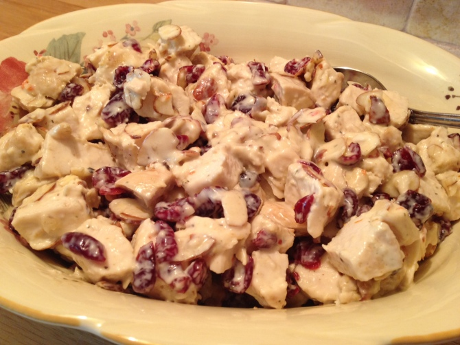 close-up Herb Chicken Cranberry and Almond Salad