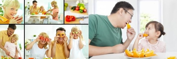 families eating healthy