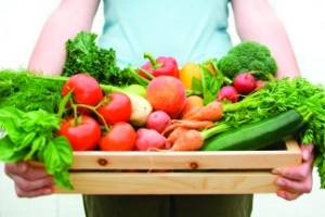 giving your extra garden produce to family and friends
