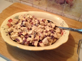 Herb Chicken Cranberry and Almond Salad