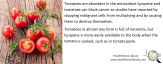 tomatoes and cancer