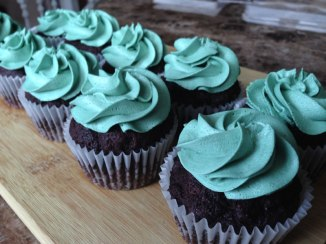 Gluten-Free Chocolate Peppermint Cupcakes