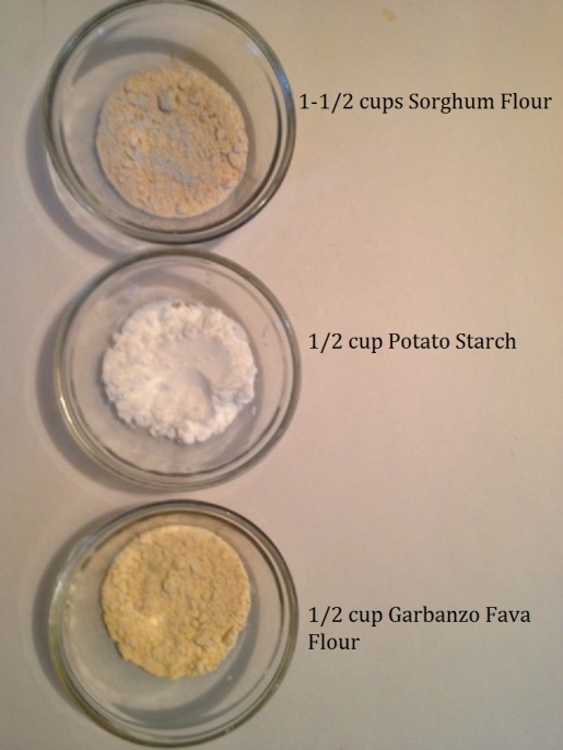 flours used for Gluten Free Tropical Carrot Cake