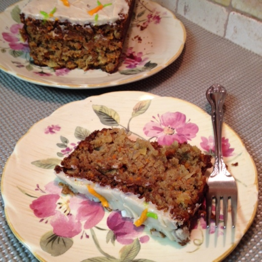 Gluten Free Tropical Carrot Cake - platted
