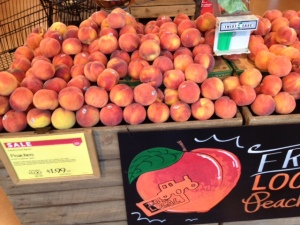 Local peaches at the Whole foods Market - Peaches are a Delight