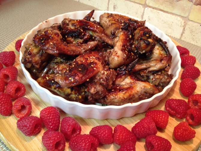 Spicy Raspberry Chicken Wings