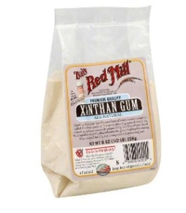 Xanthan Gum used as a food thinkner in gluten free baking