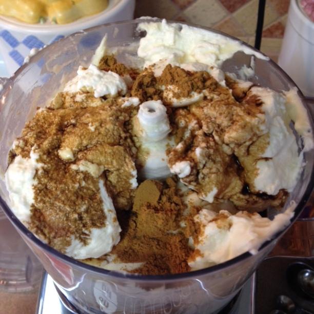 adding pie spice and vanilla