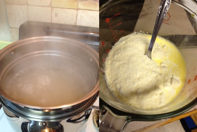 boiling water to cook pasta