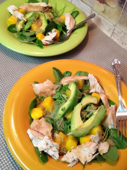 Chicken Avocado and Watercress Salad