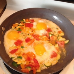 Sunny Side Up Eggs in a pan with vegetables - Putting Breakfast at the Top of Your List