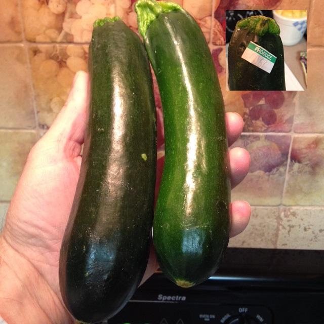 Organic Zucchini used in the Gluten Free Zucchini Cranberry Bread