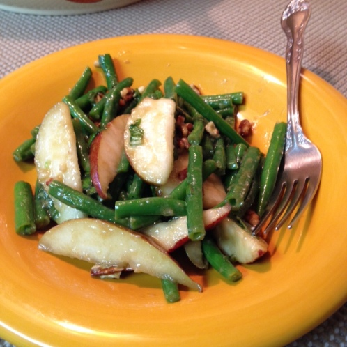 Red Pear and French Bean Salad - plated