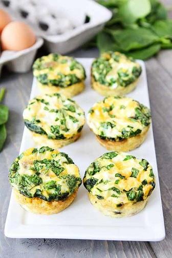 Salami and Cheese Frittatas