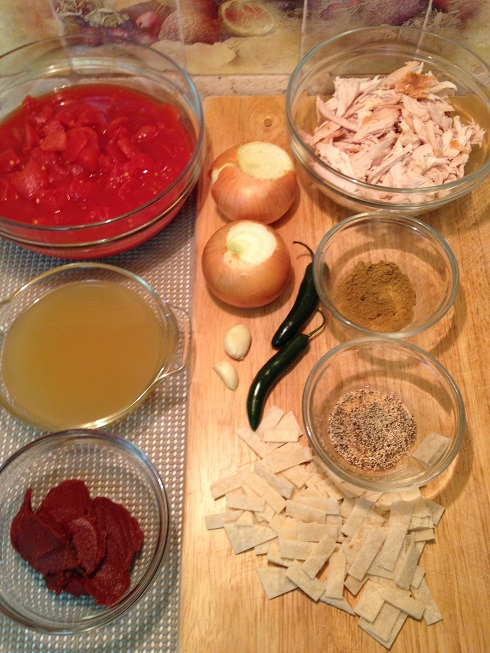 Ingredients for - Chicken Tortilla Soup