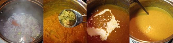 steps to preparing Creramy Pumpkin Soup