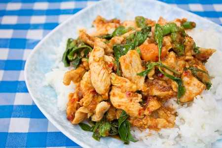 Thai Chicken Stir fry with Holy Basil