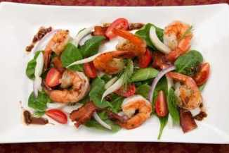 Fennel and Spinach Salad with Shrimp and Balsamic Mustard Vinaigrette