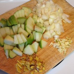 ingredients for Curried Apple Pumpkin Soup