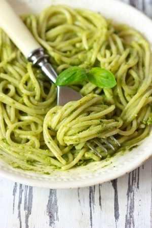 Italian Pasta with Pesto Sauce