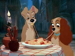 Italian food is romantic
