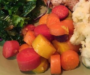 Orange Ginger and Rainbow Carrot's