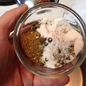 pickling  seasoning with salt and coconut sugar