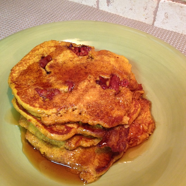 Pumpkin Bacon Pancakes