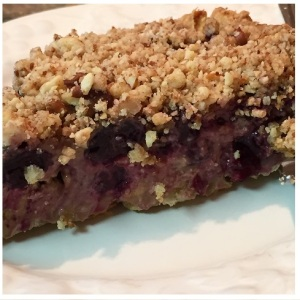 side view of Sour Cream Blueberry Pie