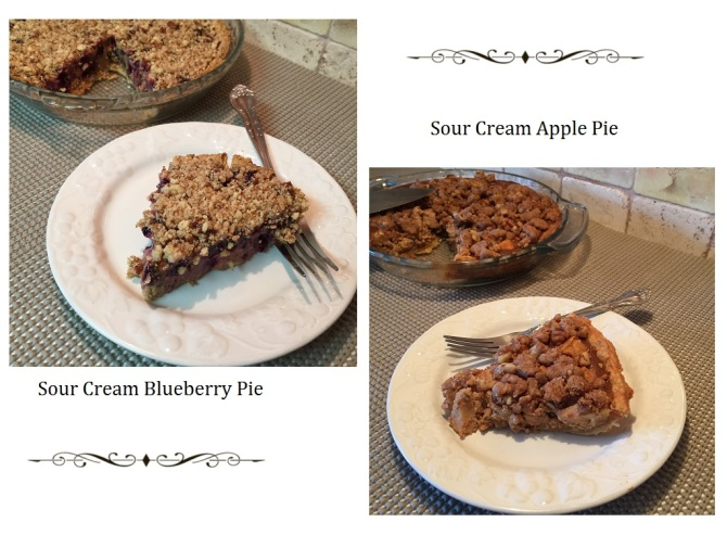 Sour Cream Blueberry Pie and Sour Cream Apple Pie