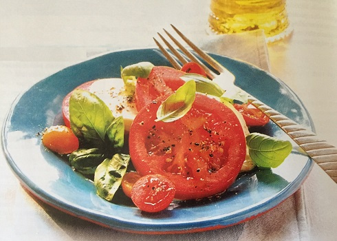 Tomato and Cheese with olive oil