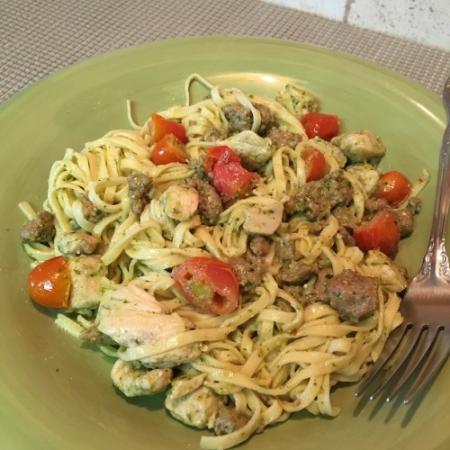 Basil Pesto Linguine - plated
