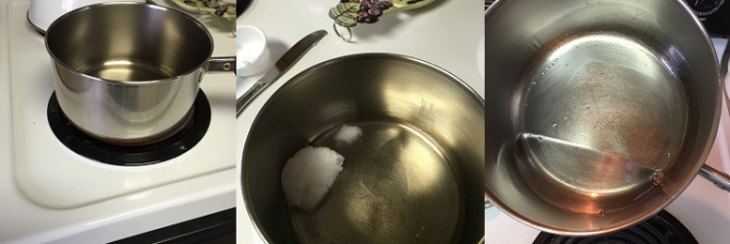 melting coconut oil