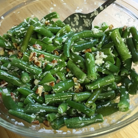 Green Beans with Coconut and Pecans