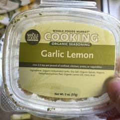organic garlic lemon seasoning
