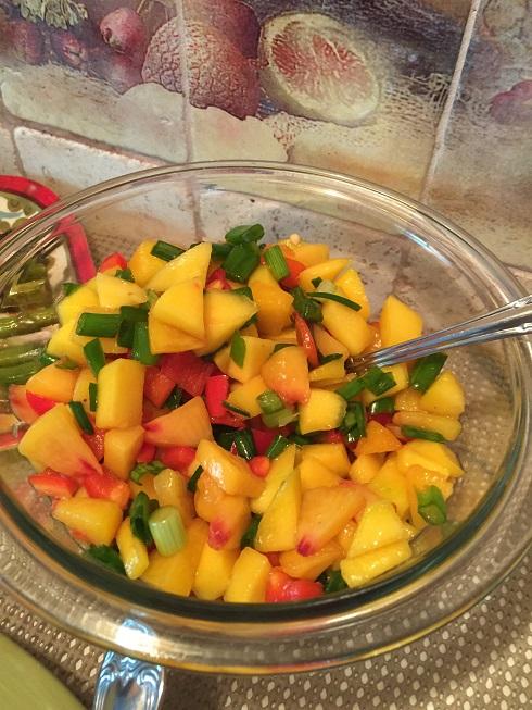 Peach and Mango Salsa