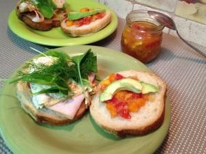Turkey Avocado and Dill Sandwich