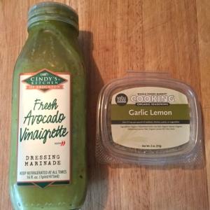 Avocado vinaigrette and Garlic Lemon seasoning